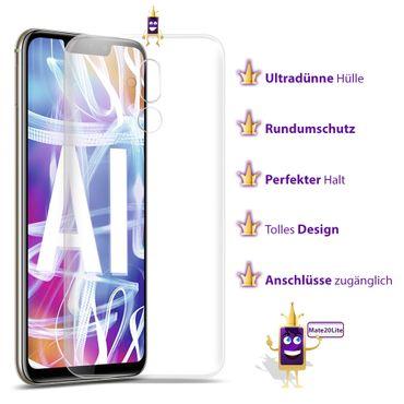 Silikon Handy Hülle Huawei Mate 20 Lite Ultra Slim Schutzhülle Bumper Case Cover – Bild 8