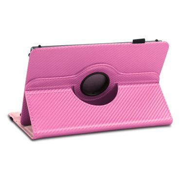 Tablet Hülle für Lenovo Tab E7 Tasche Carbon-Optik Schutzhülle Cover 360 Drehbar – Bild 22
