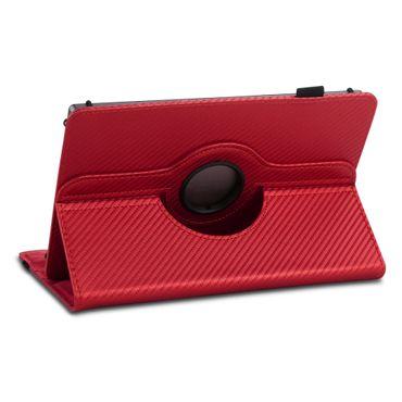 Tablet Hülle für Lenovo Tab E7 Tasche Carbon-Optik Schutzhülle Cover 360 Drehbar – Bild 10