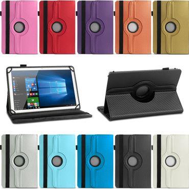Lenovo Tab E8 Hülle Tablet Tasche Schutzhülle Case Cover Carbon-Optik Drehbar – Bild 1