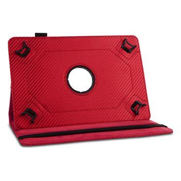 Tablet Hülle Lenovo Tab E8 Tasche Carbon-Optik Schutzhülle Cover 360° Drehbar – Bild 11
