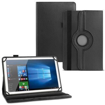 Tablet Hülle Lenovo Tab E8 Tasche Carbon-Optik Schutzhülle Cover 360° Drehbar – Bild 2