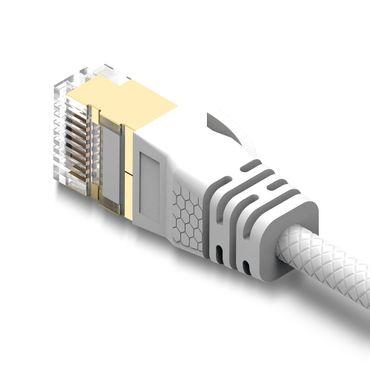 2m Cat8 Patchkabel Netzwerkkabel Internet Ethernet Verlege Kabel 2000MHz LAN DSL – Bild 4