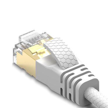 15m Cat8 Patchkabel Netzwerkkabel Internet Ethernet Verlege Kabel 2000MHz DSL – Bild 5