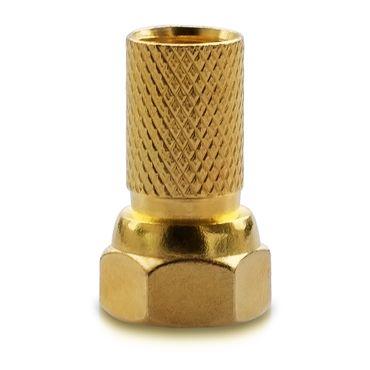30x F-Stecker Vergoldet 7mm breite Mutter Dichtung Sat HD Antennen Koaxialkabel – Bild 2