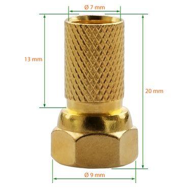 8x F-Stecker 4x SAT Fensterdurchführung flach Koaxkabel Kupplung Antennen Kabel – Bild 3