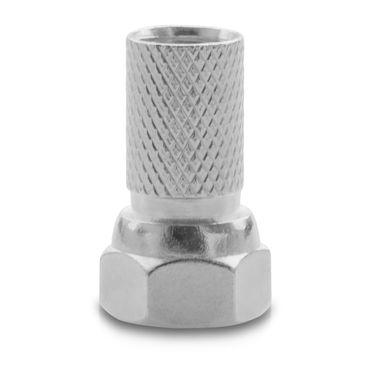 4x F-Stecker High End 7mm breite Mutter Gummidichtung Sat Antennen Koaxialkabel – Bild 2