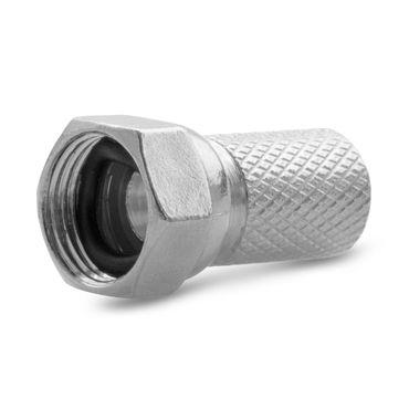 100x F-Stecker Sat Stecker 7mm breite Mutter Gummidichtung Antennen Koaxialkabel – Bild 4