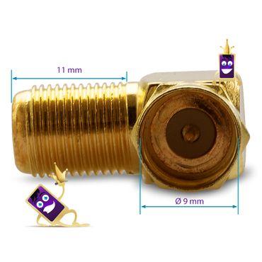 20x F-Stecker 20x 90° F-Winkelstecker Winkeladapter Sat HD Antennen Koaxialkabel – Bild 5
