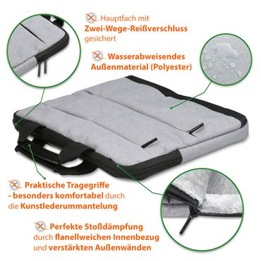 Laptop Tasche Medion Akoya E6246 Notebook Sleeve Hülle Case Schutzhülle Cover – Bild 8