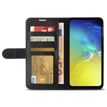 Schutzhülle Samsung Galaxy S10e Hülle Handy Tasche Flip Case Book Cover Schwarz – Bild 4