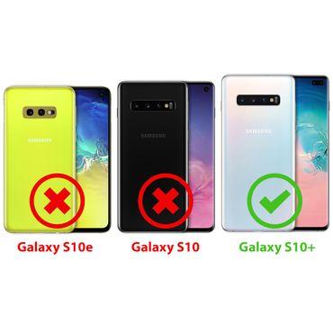 Hülle Samsung Galaxy S10 Plus Schutzhülle Handy Tasche Cover Flip Case Schwarz – Bild 9
