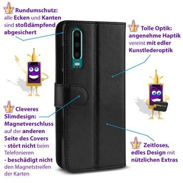 Schutz Hülle für Huawei P30 Tasche Handy Cover Flip Case Handytasche Klapphülle – Bild 6