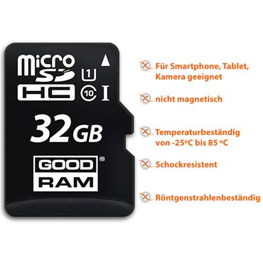 Micro SDXC Speicherkarte 32GB + Adapter GoodRam Ultra High Speed Karte Full-HD – Bild 7