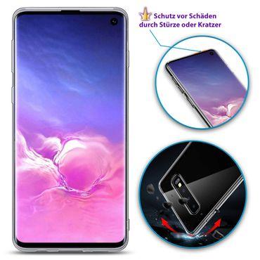 Silikon Hülle Samsung Galaxy S10e S10 / Plus Ultra Slim Schutzhülle Case Cover – Bild 13
