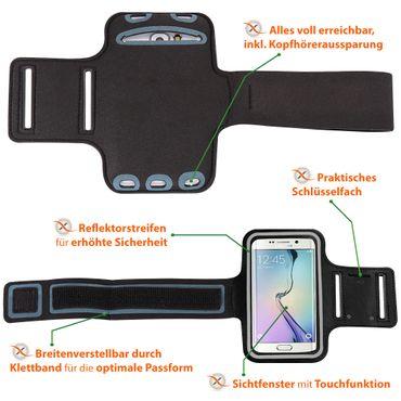 Schutzhülle Samsung Galaxy A9 Jogging Tasche Hülle Sportarmband Fitnesstasche – Bild 9