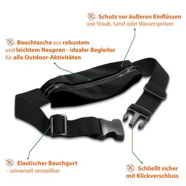 Gürteltasche Huawei Honor 10 Lite Bauchtasche Hüft Tasche Handy Hülle Lauftasche – Bild 4