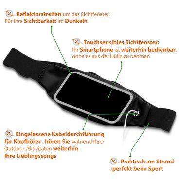 Gürteltasche Huawei P smart 2019 Bauchtasche Hüft Tasche Handy Hülle Lauftasche – Bild 5