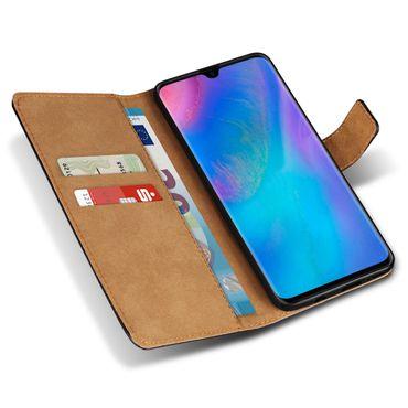 Leder Hülle Huawei P30 Pro Tasche Schutzhülle Flip Cover Book Klapp Case Schwarz – Bild 1