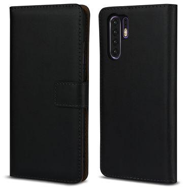 Leder Hülle Huawei P30 Pro Tasche Schutzhülle Flip Cover Book Klapp Case Schwarz – Bild 8