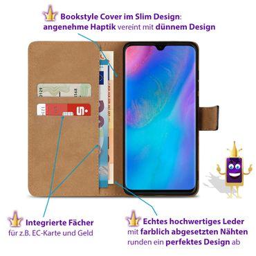 Leder Tasche Huawei P30 Hülle Schutzhülle Schwarz Book Cover Flip Case Magnet – Bild 4