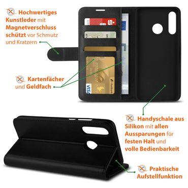 Schutzhülle Huawei P30 Lite Hülle Flip Case Handy Tasche Schutz Cover Schwarz – Bild 5