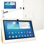 Tasche Hülle f. Samsung Galaxy Tab 3 10.1 P5200 P5210 Tablet Cover Etui Pen weiß 001