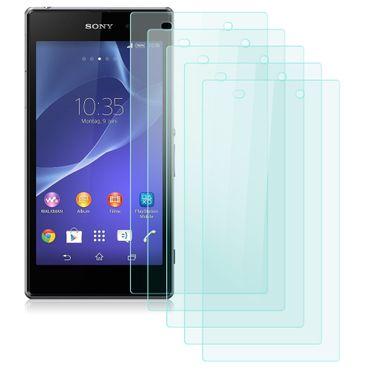 Sony Xperia Z1 Displayschutz Folie 5x Schutzfolie Matt Panzerfolie Handyfolie – Bild 2