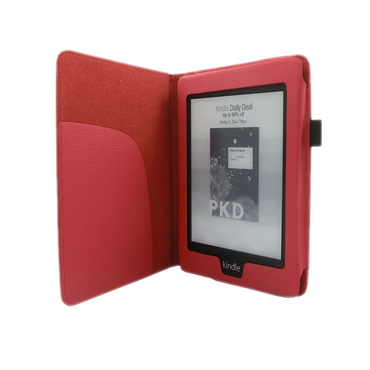 Tasche Hülle für Kindle Paperwhite 2.Generation Case Etui Wake/Sleep Rot + Folie – Bild 2