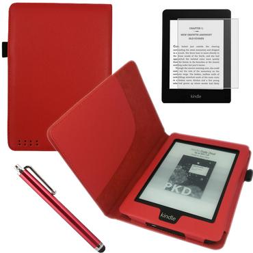Tasche Hülle für Kindle Paperwhite 2.Generation Cover Case Schutzhülle Rot Pen – Bild 1