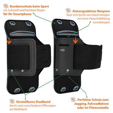 Sportarmband Samsung Galaxy A20e Jogging Tasche Hülle Fitnesstasche Sport Case – Bild 8