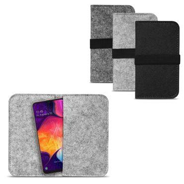 Handy Hülle für Samsung Galaxy A50 Filz Tasche Schutzhülle Filzhülle Cover Case – Bild 1