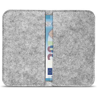 Handy Hülle für Samsung Galaxy A20e Filz Tasche Schutzhülle Filzhülle Cover Case – Bild 12