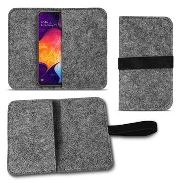 Handy Hülle für Samsung Galaxy A20 Filz Tasche Schutzhülle Filzhülle Cover Case – Bild 14