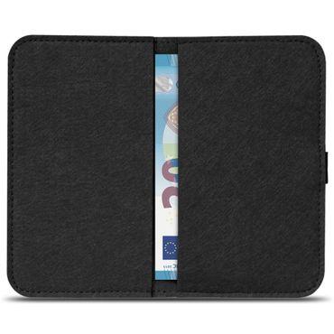 Handy Hülle für Samsung Galaxy A20 Filz Tasche Schutzhülle Filzhülle Cover Case – Bild 6
