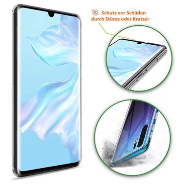 Handy Hülle Huawei P30 Pro Schutzhülle Slim Case Cover Tasche Schutz Transparent – Bild 6