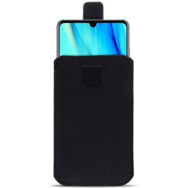 Schutzhülle Huawei P30 Pro Leder Hülle Handy Tasche Pull Tab Schwarz Case Cover – Bild 2