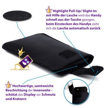 Leder Hülle Huawei P smart 2019 Tasche Handyhülle Pull Tab Schutzhülle Schwarz – Bild 10
