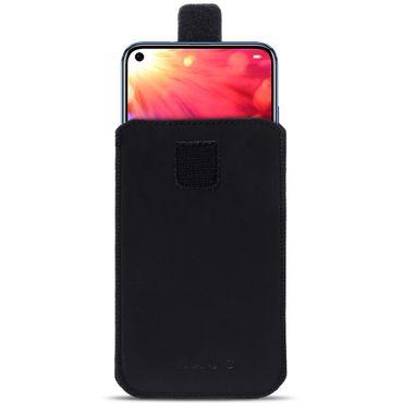 Leder Hülle Huawei Honor View 20 Tasche Handyhülle Pull Tab Schutzhülle Schwarz – Bild 2