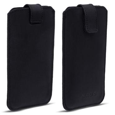 Leder Hülle Huawei Honor 10 Lite Tasche Handyhülle Pull Tab Schutzhülle Schwarz – Bild 3