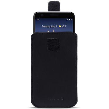 Schutzhülle Google Pixel 3a XL Handy Tasche Leder Hülle Pull Tab Schwarz Case – Bild 2