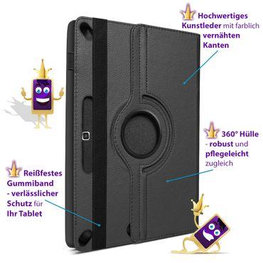 Schutzhülle Medion Lifetab E10414 Tasche Hülle Tablet 360 Drehbar Case Schwarz – Bild 10