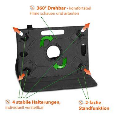 Huawei MediaPad M6 10.8 Tablet Hülle Schutzhülle Tasche Cover Drehbar Schwarz – Bild 11