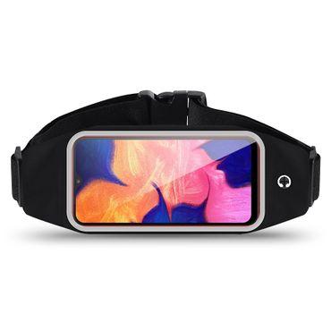 Bauchtasche Samsung Galaxy A10 Tasche Jogging Hülle Fitness Sport Case Schwarz – Bild 1