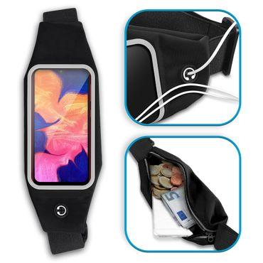 Bauchtasche Samsung Galaxy A10 Tasche Jogging Hülle Fitness Sport Case Schwarz – Bild 4