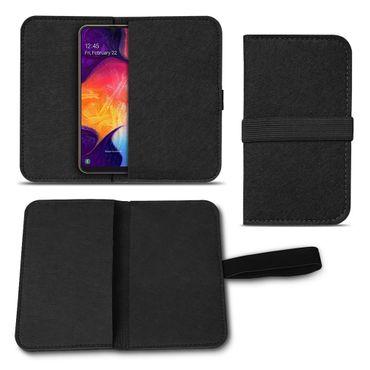 Handy Hülle für Samsung Galaxy A10 Filz Tasche Schutzhülle Filzhülle Cover Case – Bild 2