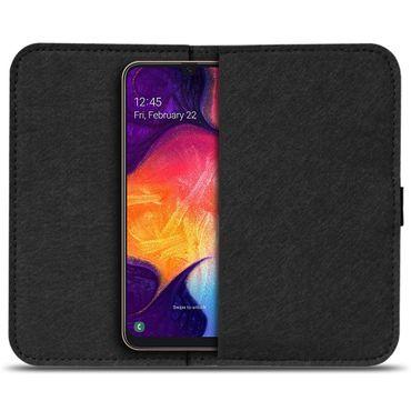 Handy Hülle für Samsung Galaxy A10 Filz Tasche Schutzhülle Filzhülle Cover Case – Bild 3