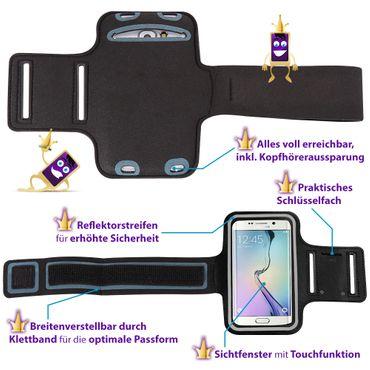 Handy Hülle für Huawei Honor 20 Pro Jogging Tasche Schwarz Fitness Armband Case – Bild 10