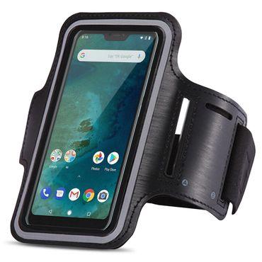 Schutzhülle Xiaomi Mi A2 Lite Jogging Tasche Schwarz Hülle Fitness Sport Case  – Bild 1