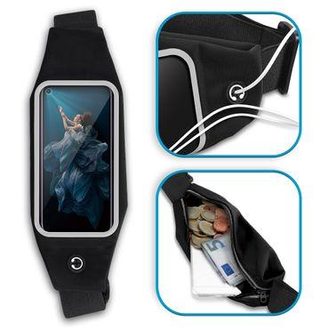 Sport Hülle Huawei Honor 20 Pro Tasche Schwarz Schutzhülle Fitness Schutz Case – Bild 4